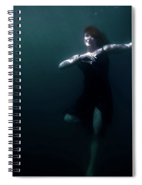 Dancing Under The Water Spiral Notebook
