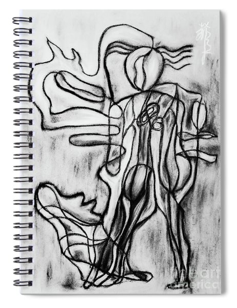 Dancing With The Breeze Bw Spiral Notebook