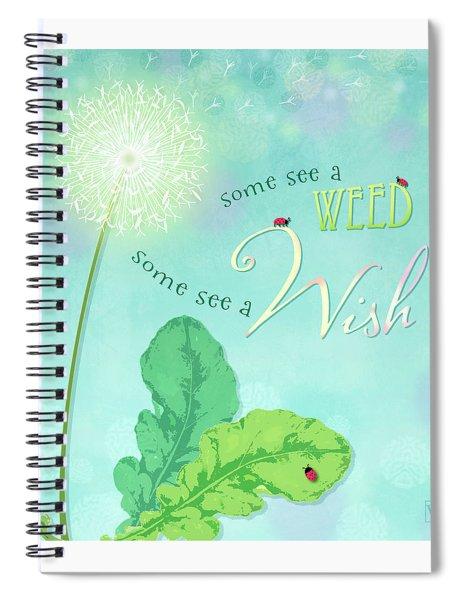 Dandelion Wish Spiral Notebook