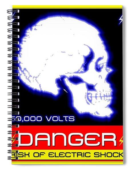 Danger High Voltage Sign Spiral Notebook