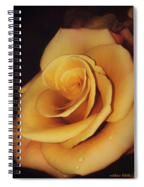 Dark And Golden Spiral Notebook