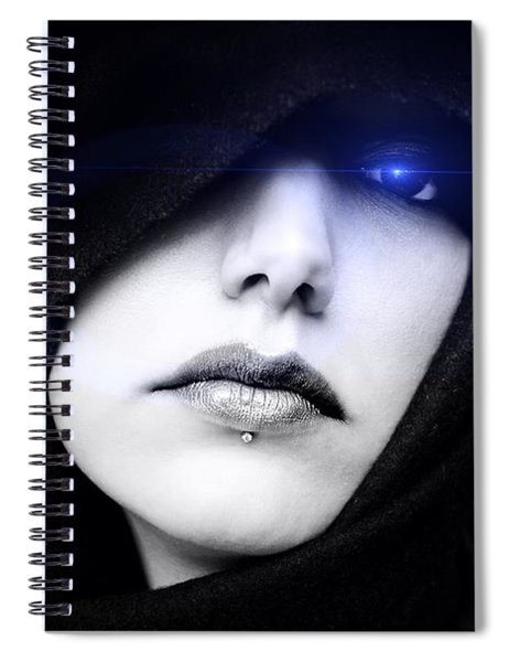 Spiral Notebook featuring the digital art Dark Angel by ISAW Company