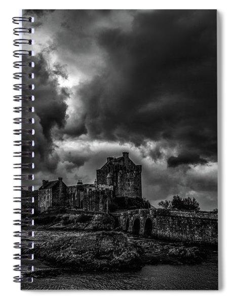 Dark Clouds Bw #h2 Spiral Notebook