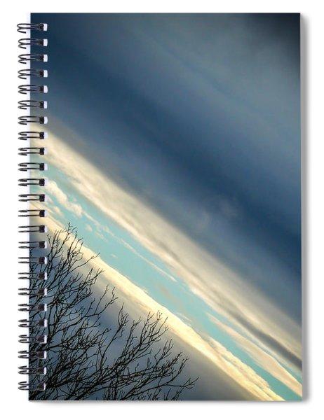 Dark Clouds Parting Spiral Notebook