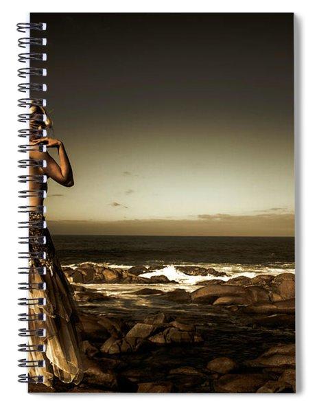 Dark Dramatic Fine Art Beauty Spiral Notebook