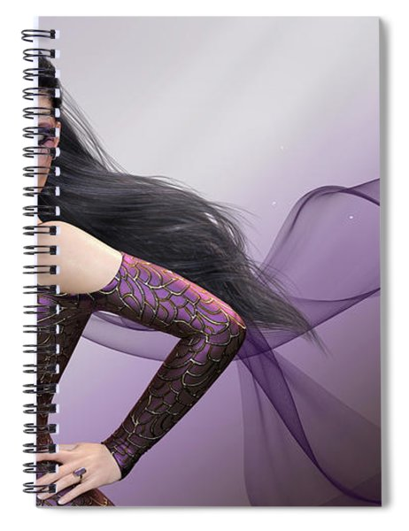 Dark Lady Spiral Notebook