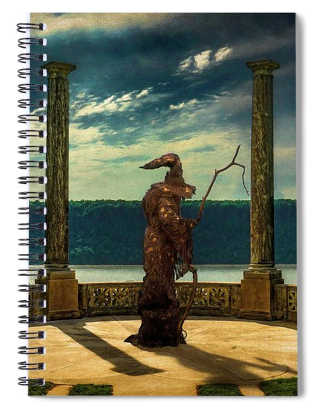 Dark Magic At Sunset By The Hudson Spiral Notebook