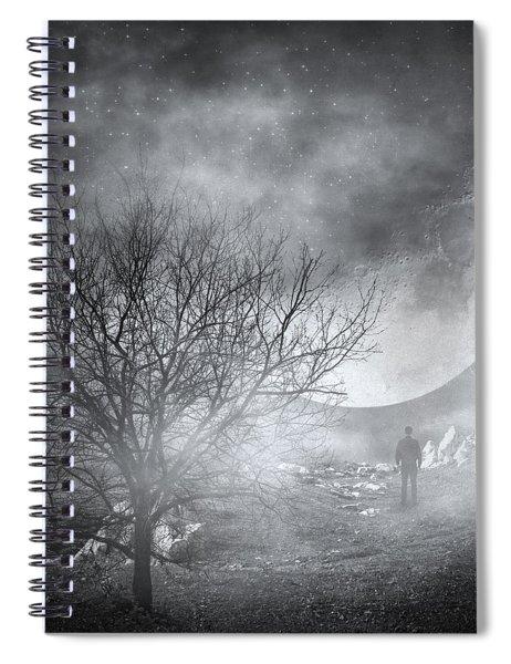 Dark Night Sky Paradox Spiral Notebook