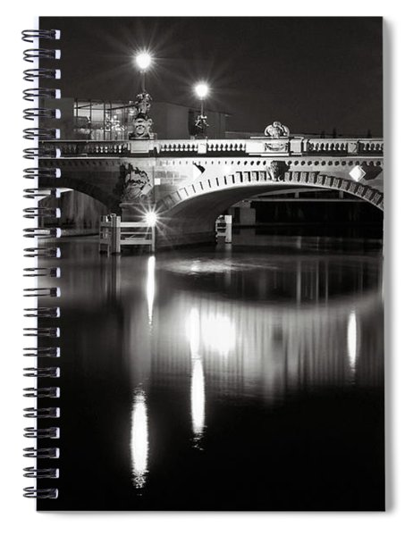 Dark Nocturnal Sound Of Silence Spiral Notebook