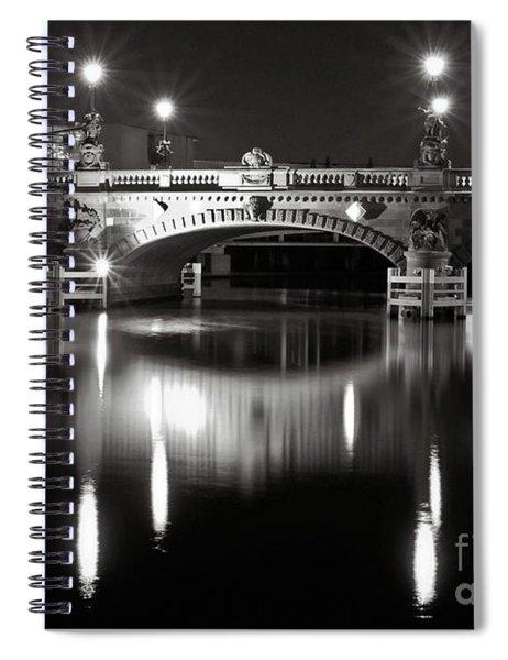 Dark Nocturnal Sound Of Silence Spiral Notebook