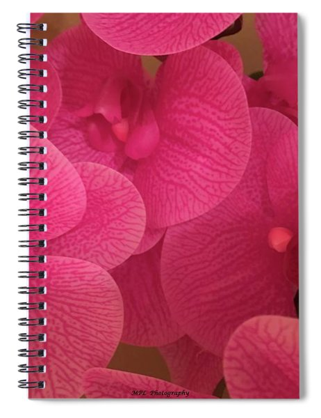 Dark Pink Orchids Spiral Notebook
