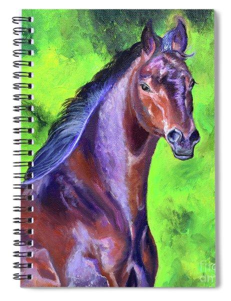 Dark Red Bay Horse Spiral Notebook