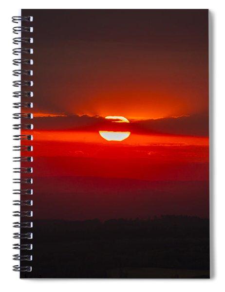 Dark Red Sun In Vogelsberg Spiral Notebook