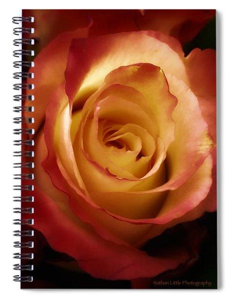 Dark Rose Spiral Notebook