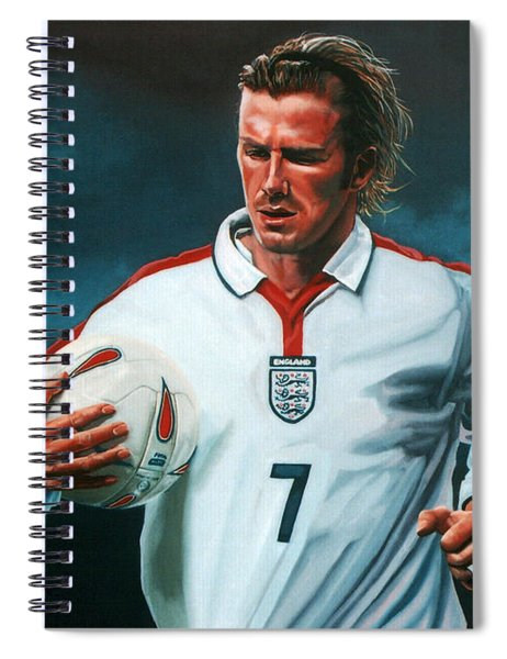 David Beckham Spiral Notebook