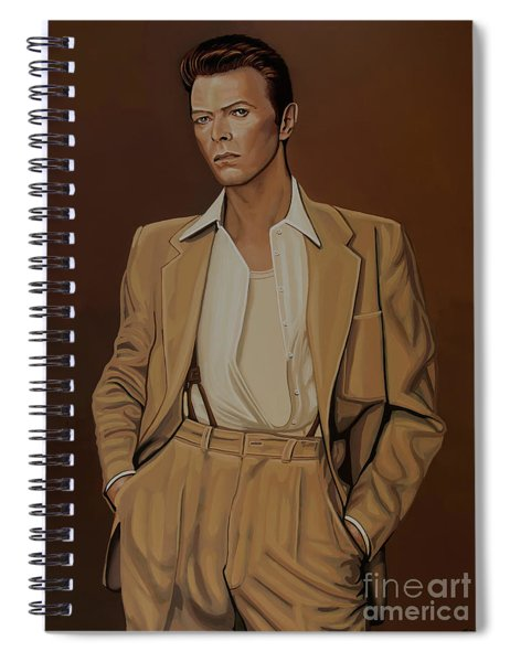 David Bowie Four Ever Spiral Notebook