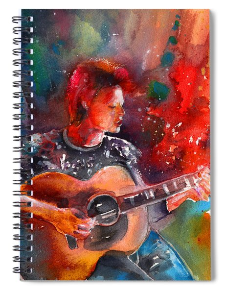 David Bowie In Space Oddity Spiral Notebook