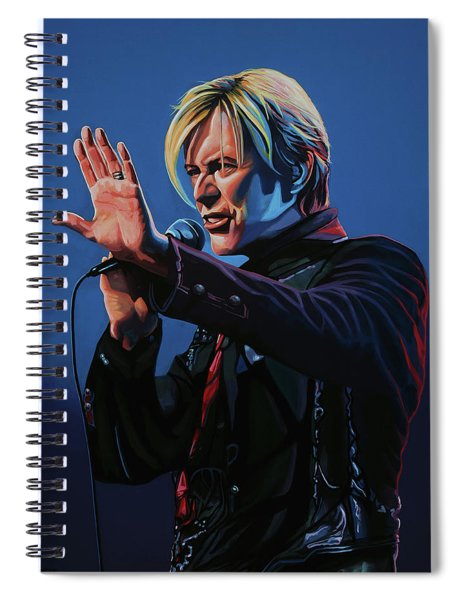 David Bowie Live Painting Spiral Notebook