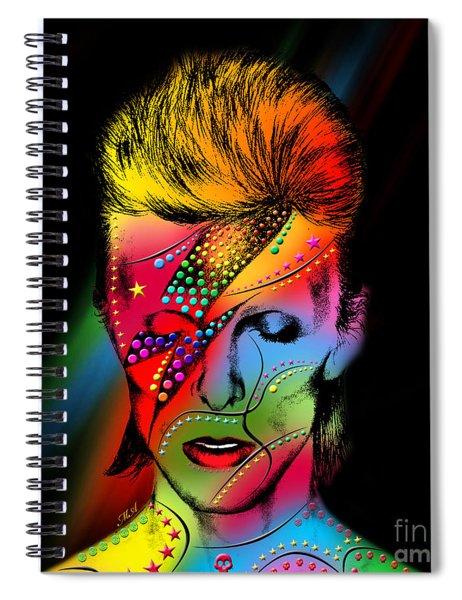 David Bowie Spiral Notebook