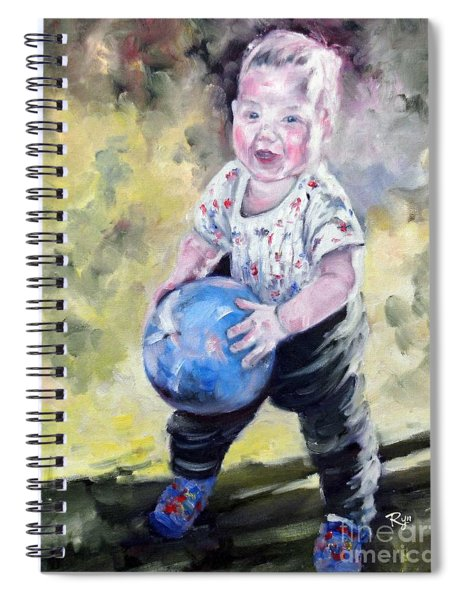 David With His Blue Ball Spiral Notebook