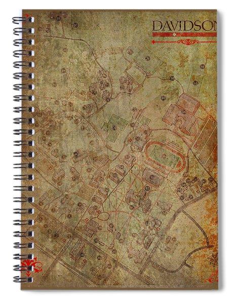 Davidson College Map Spiral Notebook