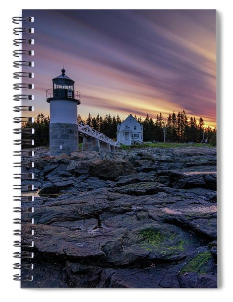 Dawn Breaking At Marshall Point Lighthouse Spiral Notebook