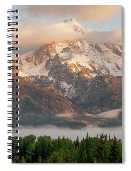 Dawn At Grand Teton National Park Panorama Wyoming Spiral Notebook
