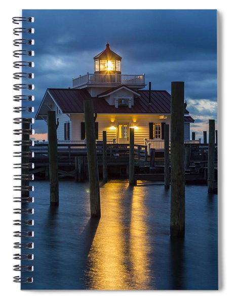 Dawn At Roanoke Marshes Lighthouse Spiral Notebook