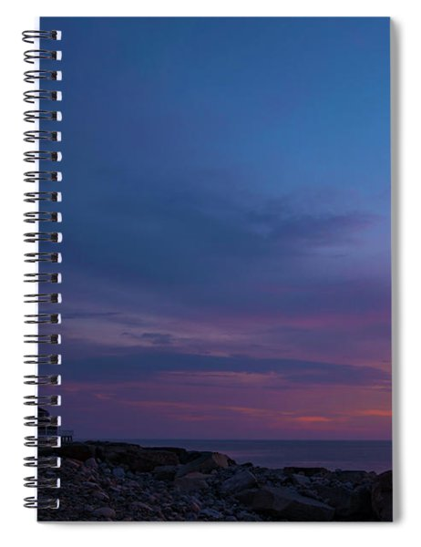 Dawn At Scituate Light Spiral Notebook