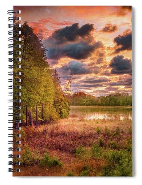 Dawn At The Lake Spiral Notebook