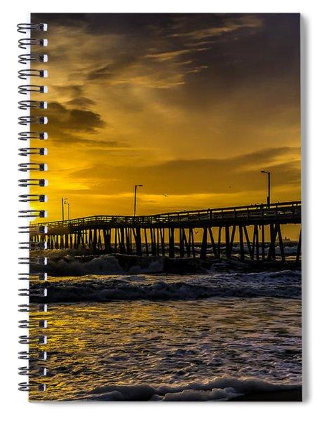 Dawn At The Virginia Pier Spiral Notebook