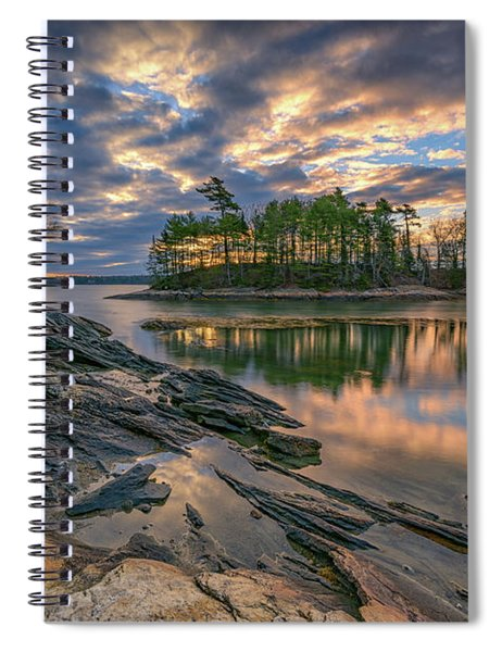 Dawn At Wolfe's Neck Woods Spiral Notebook