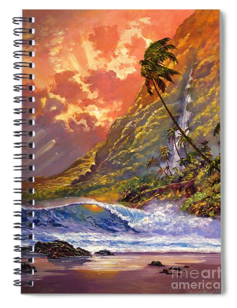 Dawn In Oahu Spiral Notebook