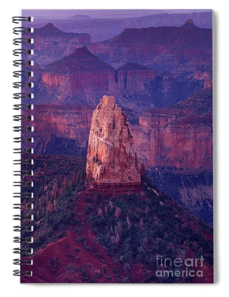 Dawn Mount Hayden Point Imperial North Rim Grand Canyon National Park Arizona Spiral Notebook by Dave Welling