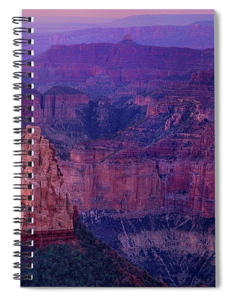 Dawn Mount Hayden Sunrise North Rim Grand Canyon Arizona Spiral Notebook by Dave Welling