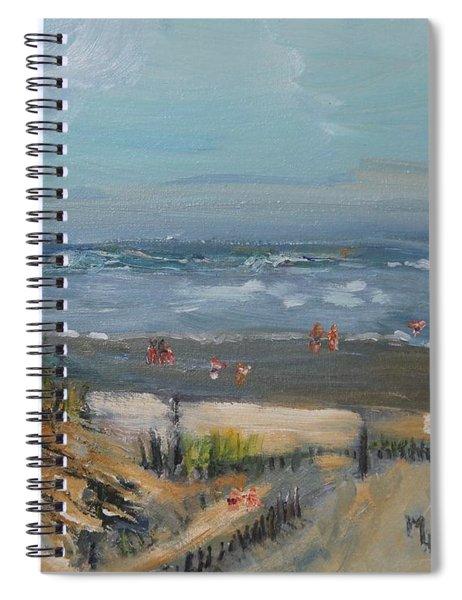 Day At A Dennis Beach Spiral Notebook
