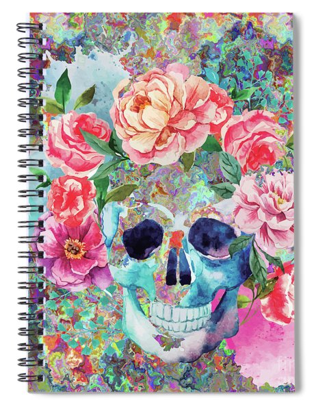 Day Of The Dead Watercolor Spiral Notebook
