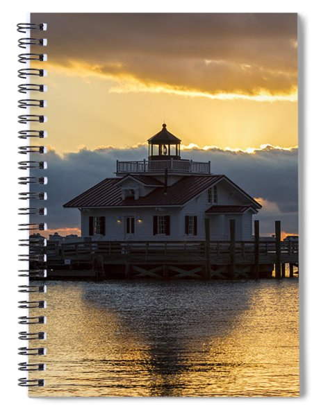 Daybreak Over Roanoke Marshes Lighthouse Spiral Notebook