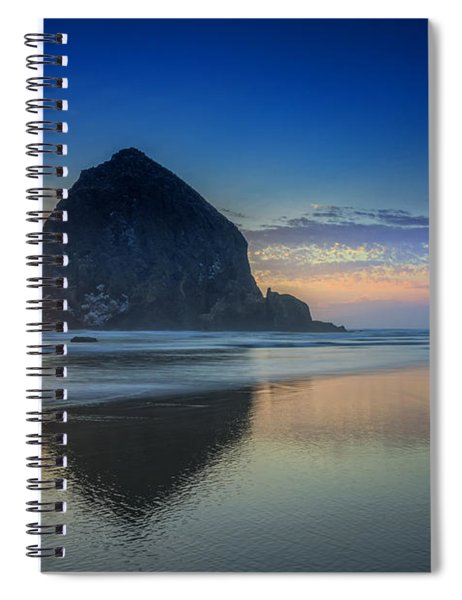 Day's End In Cannon Beach Spiral Notebook