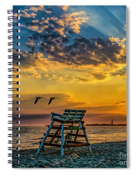 Days End In Cape May Nj Spiral Notebook