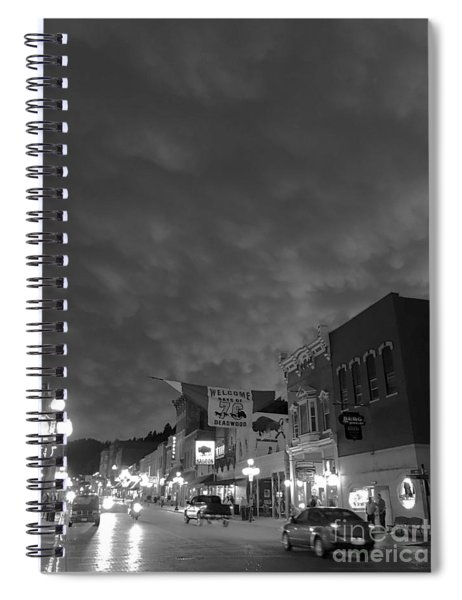 Days Of 76 Deadwood B/w Spiral Notebook