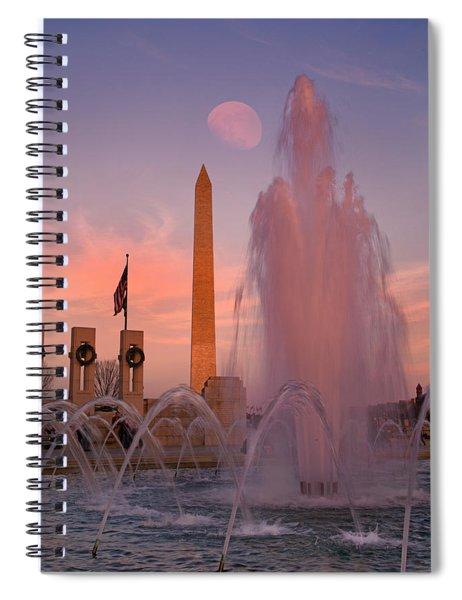 Dc Sunset Spiral Notebook