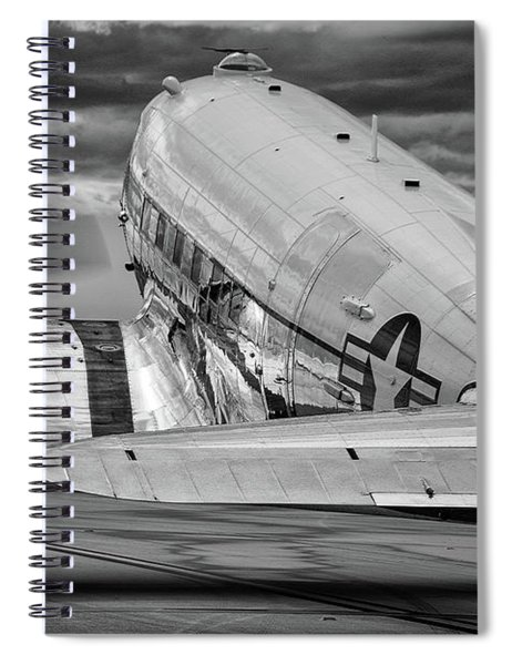 Dc3 Taxiing For Departure Spiral Notebook
