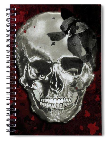 Dead Fancy Skull Spiral Notebook
