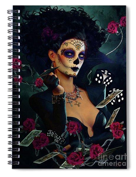 Dead Lucky Sugar Doll Spiral Notebook