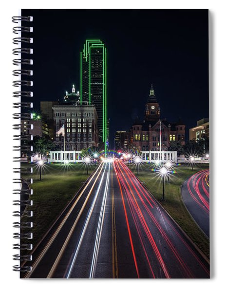 Dealey Plaza Dallas At Night Spiral Notebook