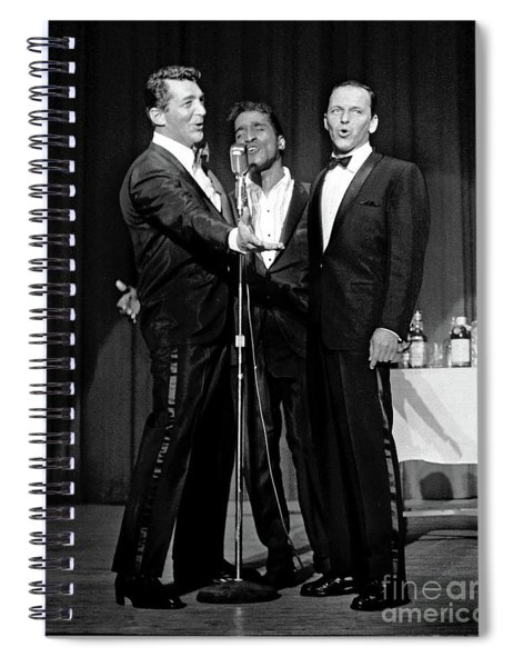 Dean Martin, Sammy Davis Jr. And Frank Sinatra. Spiral Notebook