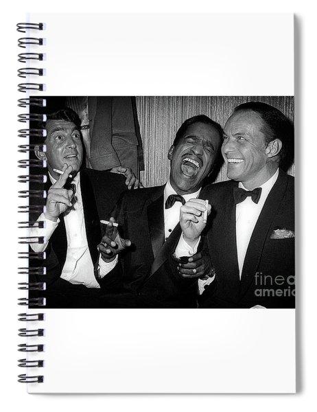 Dean Martin, Sammy Davis Jr. And Frank Sinatra Laughing Spiral Notebook