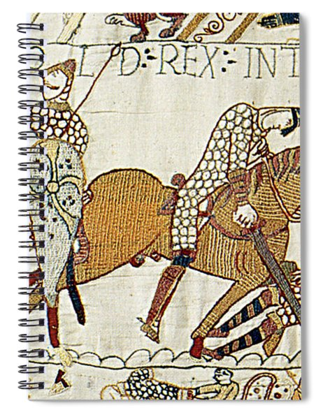 Death Of Harold, Bayeux Tapestry Spiral Notebook