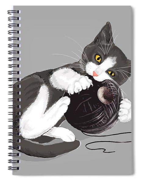 Death Star Kitty Spiral Notebook